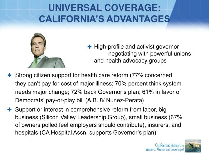 Universal coverage california s advantages