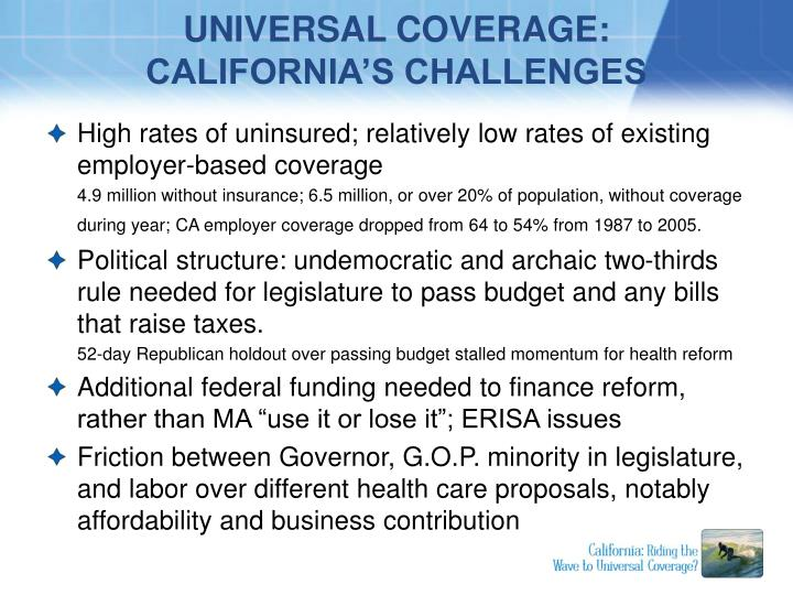 UNIVERSAL COVERAGE: