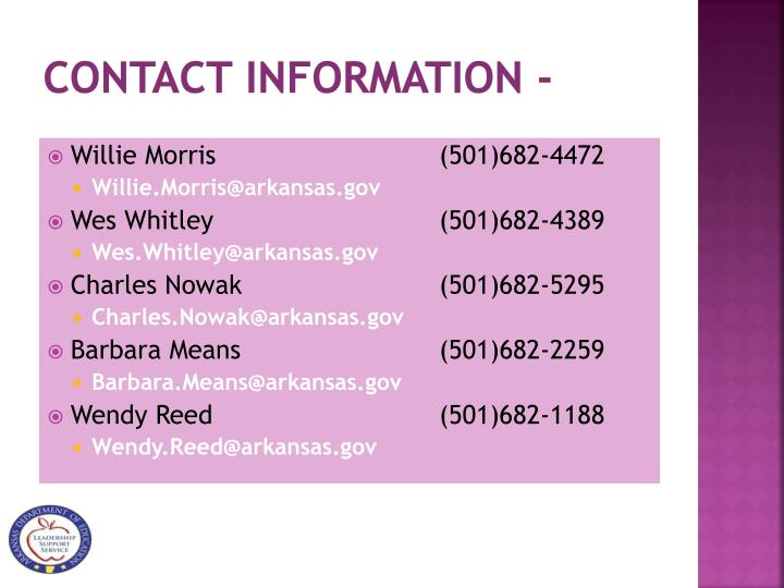 Contact Information -