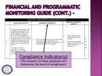 financial and programmatic monitoring guide cont