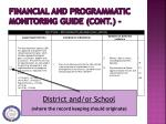 financial and programmatic monitoring guide cont4