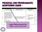 financial and programmatic monitoring guide