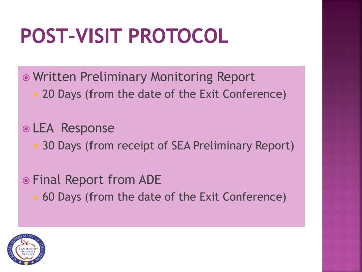 Post-visit Protocol
