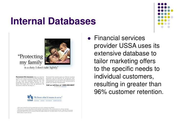 Internal Databases