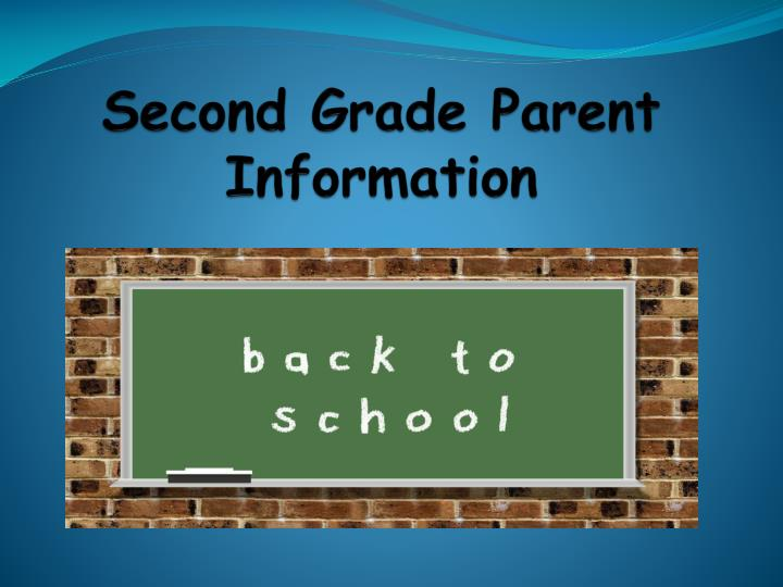 Second grade parent information