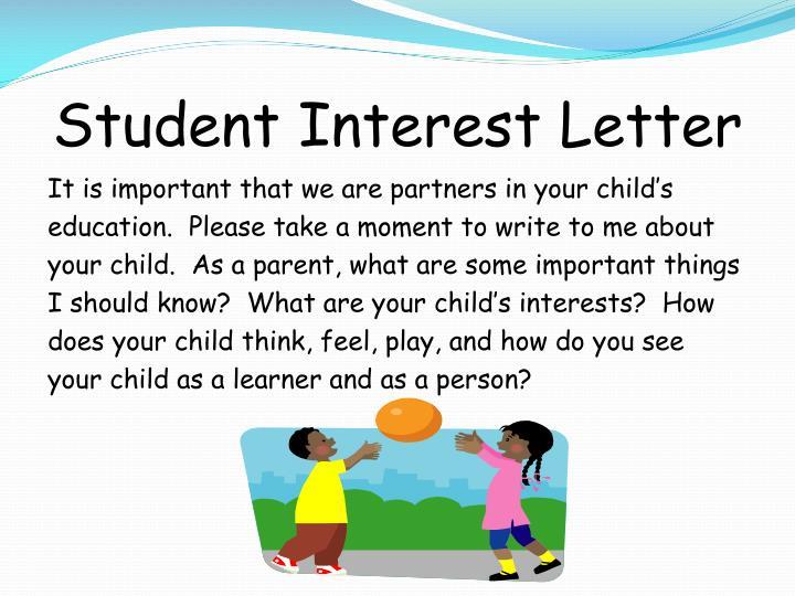 Student Interest Letter