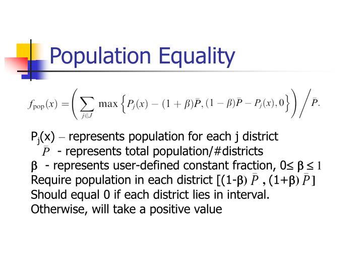 Population Equality