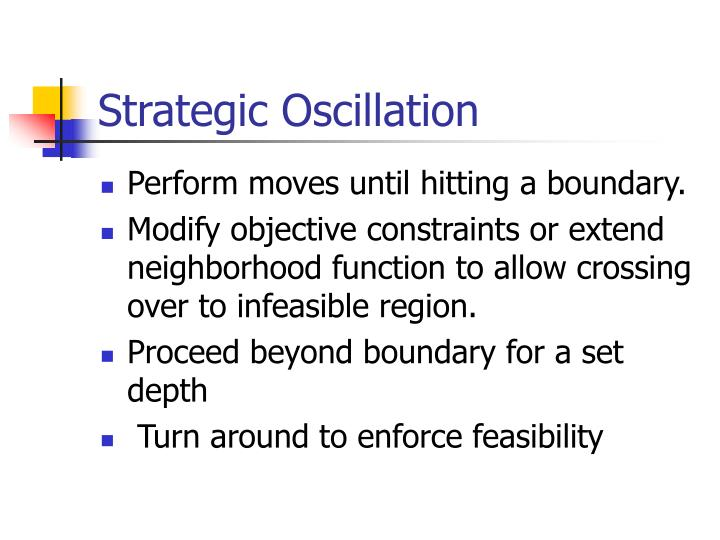 Strategic Oscillation