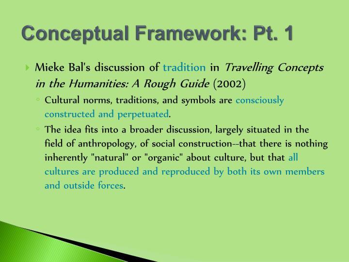 Conceptual Framework: Pt. 1