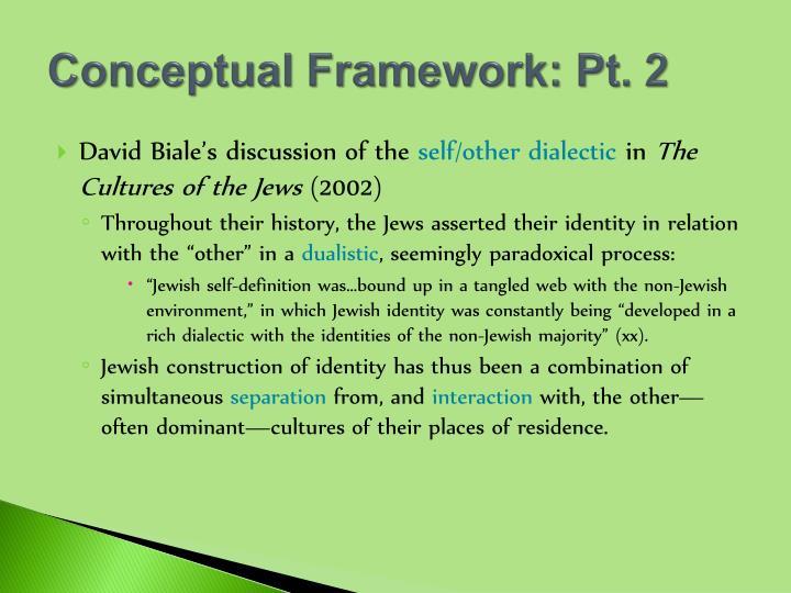 Conceptual Framework: Pt. 2