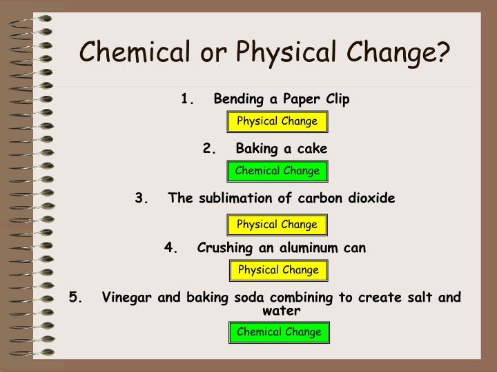 Chemical or Physical Change?
