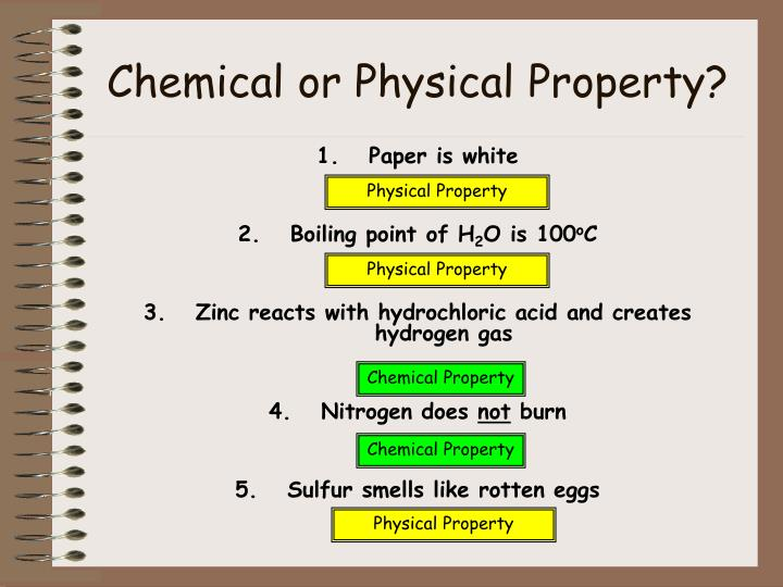 Chemical or Physical Property?