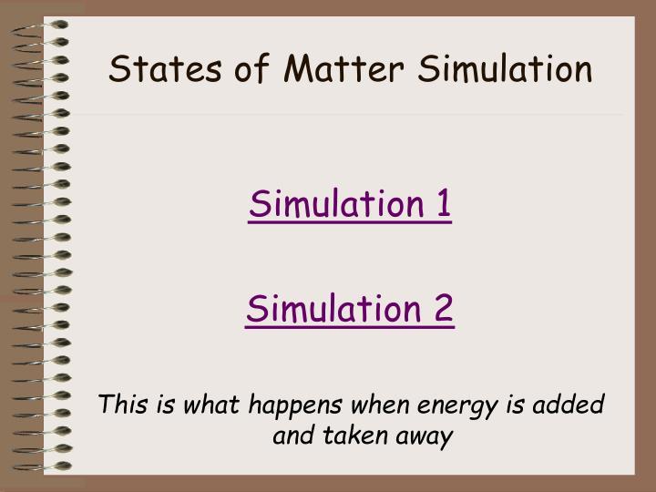 States of Matter Simulation