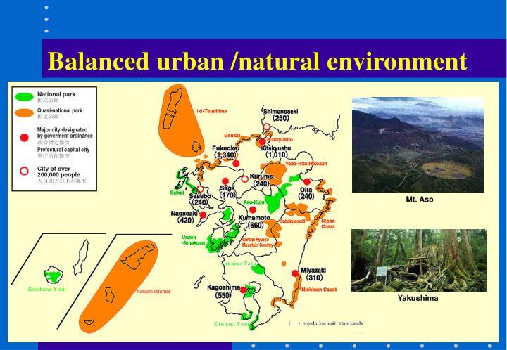 Balanced urban /natural environment