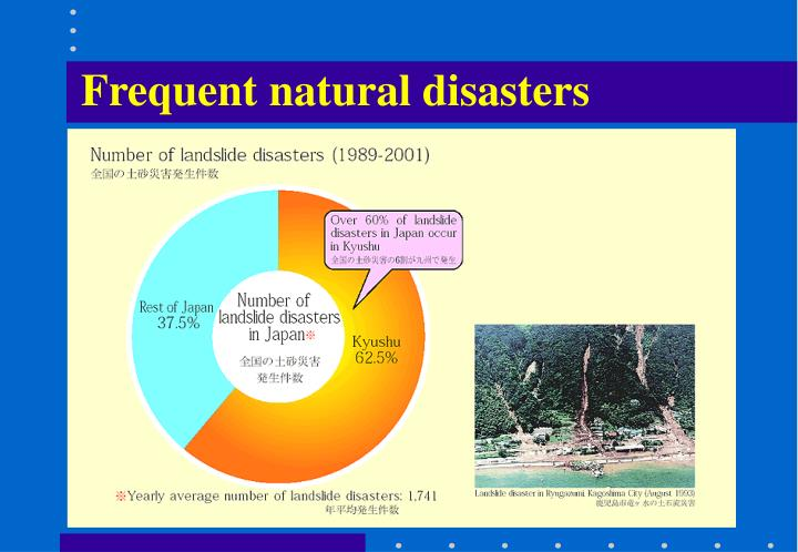 Frequent natural disasters