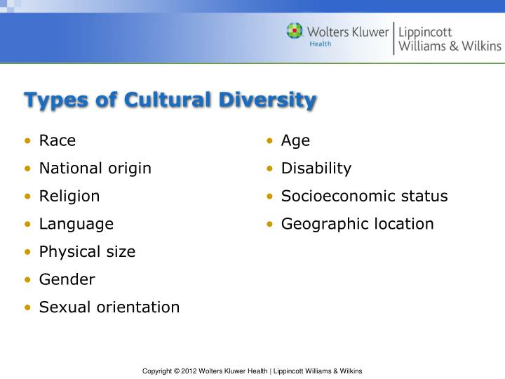 Types of cultural diversity