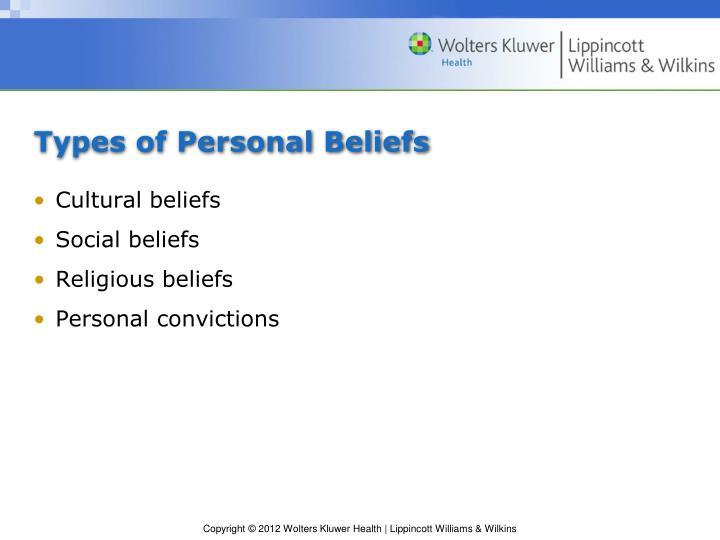 Types of Personal Beliefs