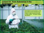 lesson 9 3 toxic substances in the environment