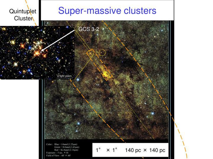 Super-massive clusters