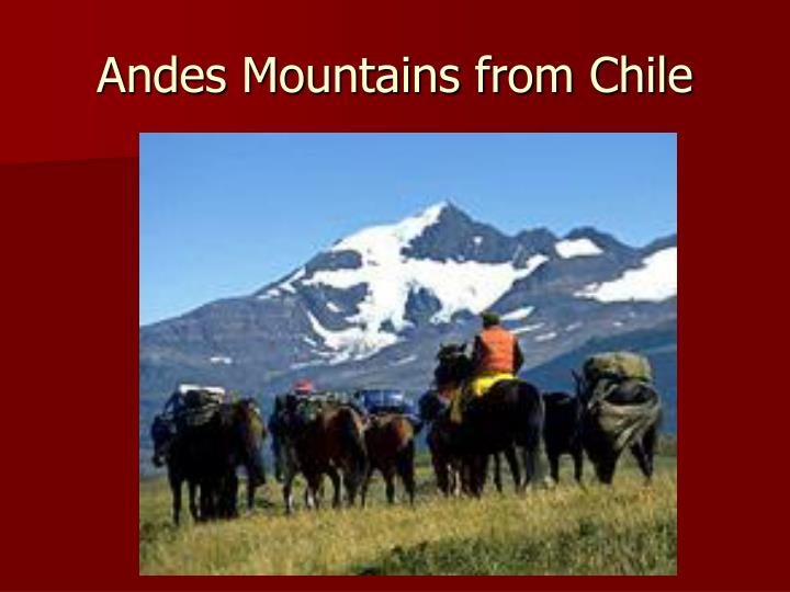 Andes Mountains from Chile