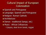 cultural impact of european colonization