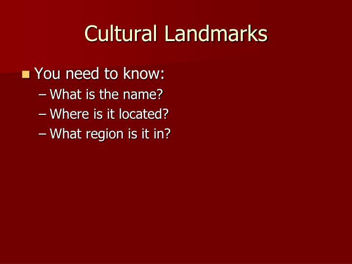 Cultural Landmarks