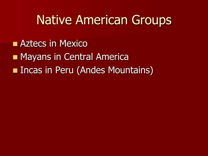Native American Groups