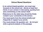 extract based questions