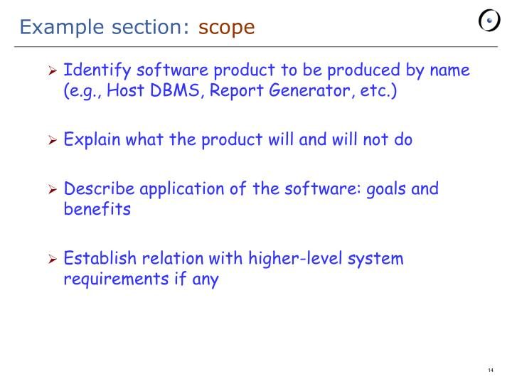 Example section: