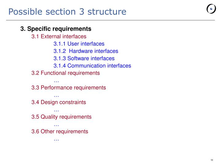 Possible section 3 structure