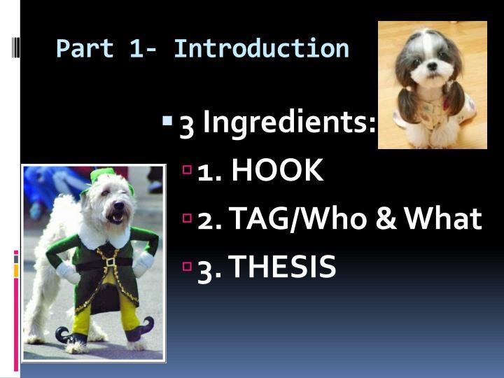 Part 1- Introduction
