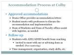 accommodation process at colby1