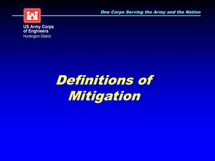Definitions of Mitigation