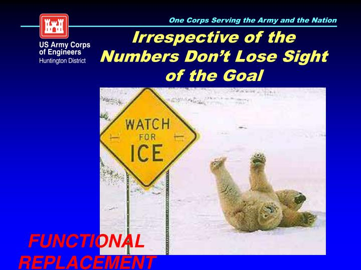Irrespective of the Numbers Don't Lose Sight of the Goal