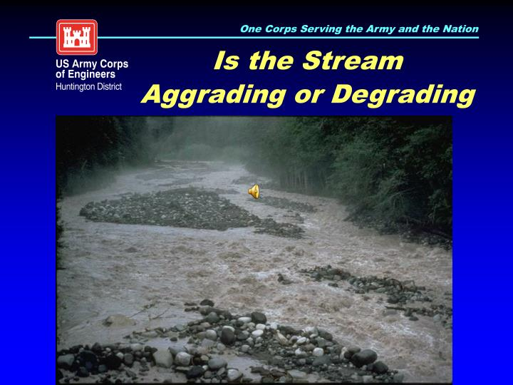 Is the Stream Aggrading or Degrading