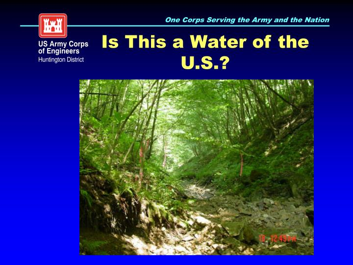 Is This a Water of the U.S.?