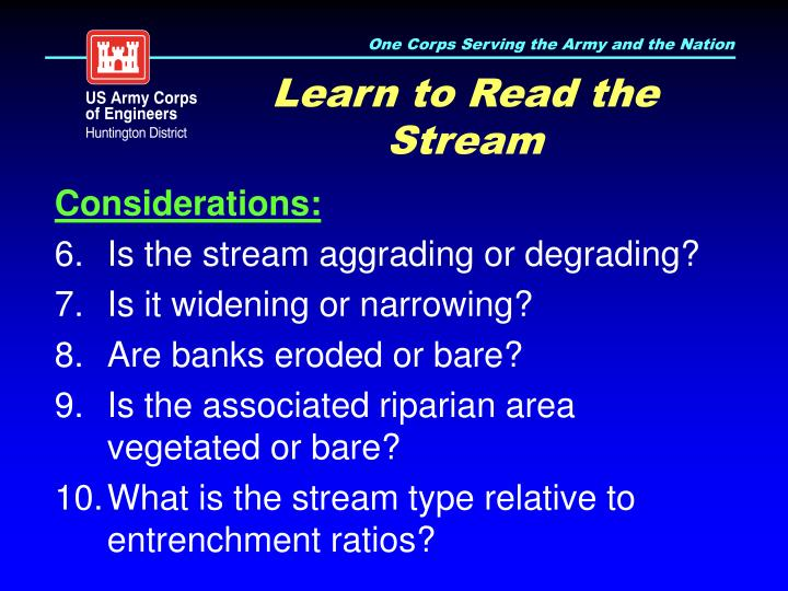 Learn to Read the Stream