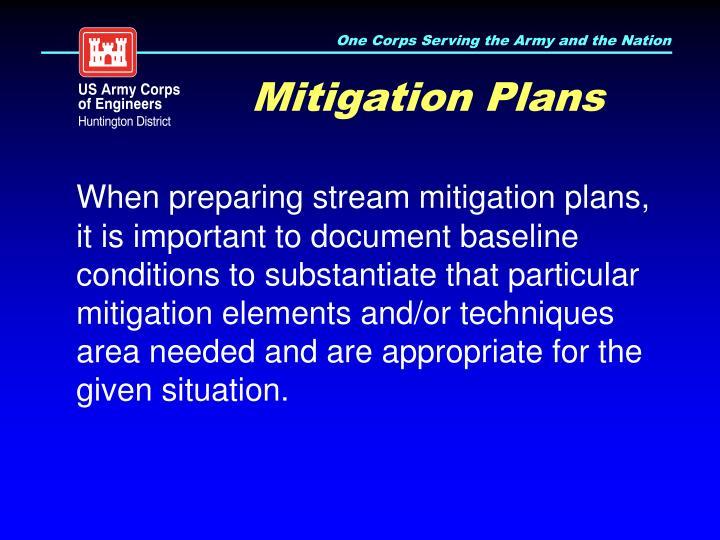 Mitigation Plans