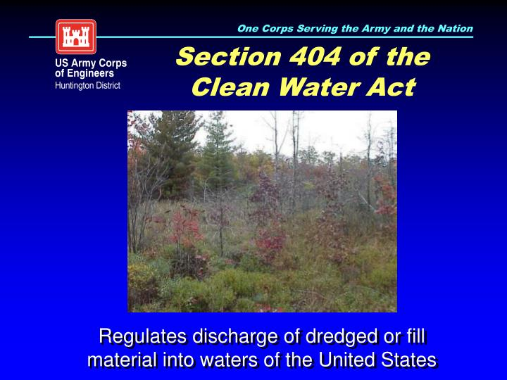 Section 404 of the Clean Water Act