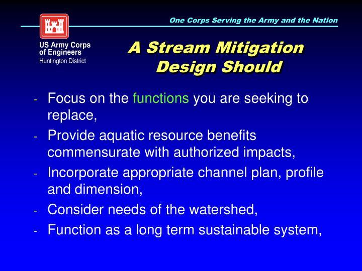 A Stream Mitigation