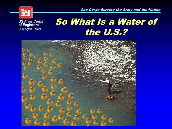 So What Is a Water of the U.S.?