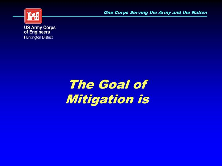 The Goal of Mitigation is