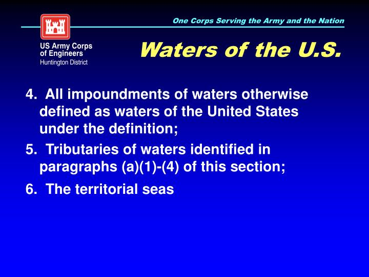 Waters of the U.S.
