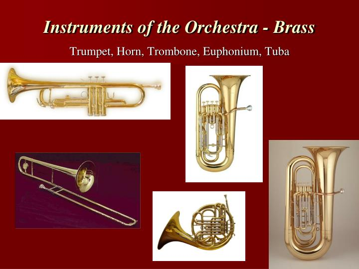 Instruments of the Orchestra - Brass