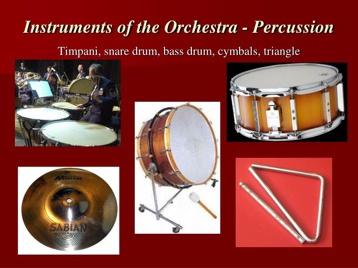 Instruments of the Orchestra - Percussion