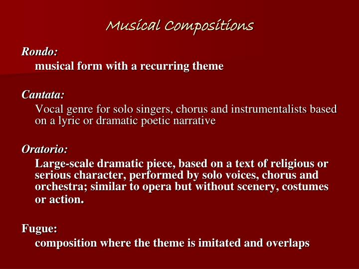 Musical Compositions