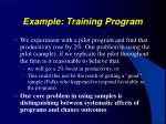 example training program1