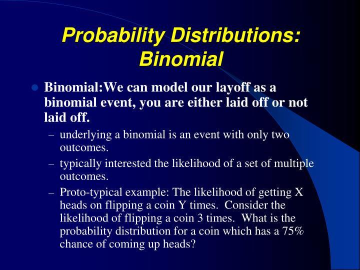 Probability Distributions: Binomial