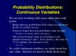 probability distributions continuous variables4