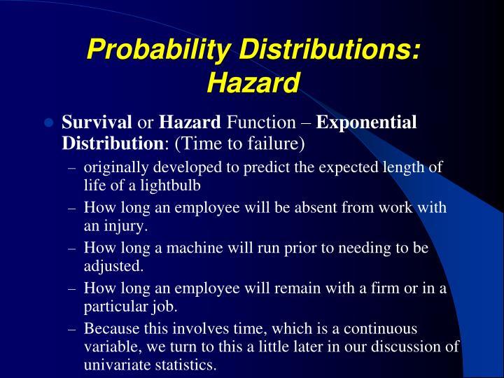 Probability Distributions: Hazard